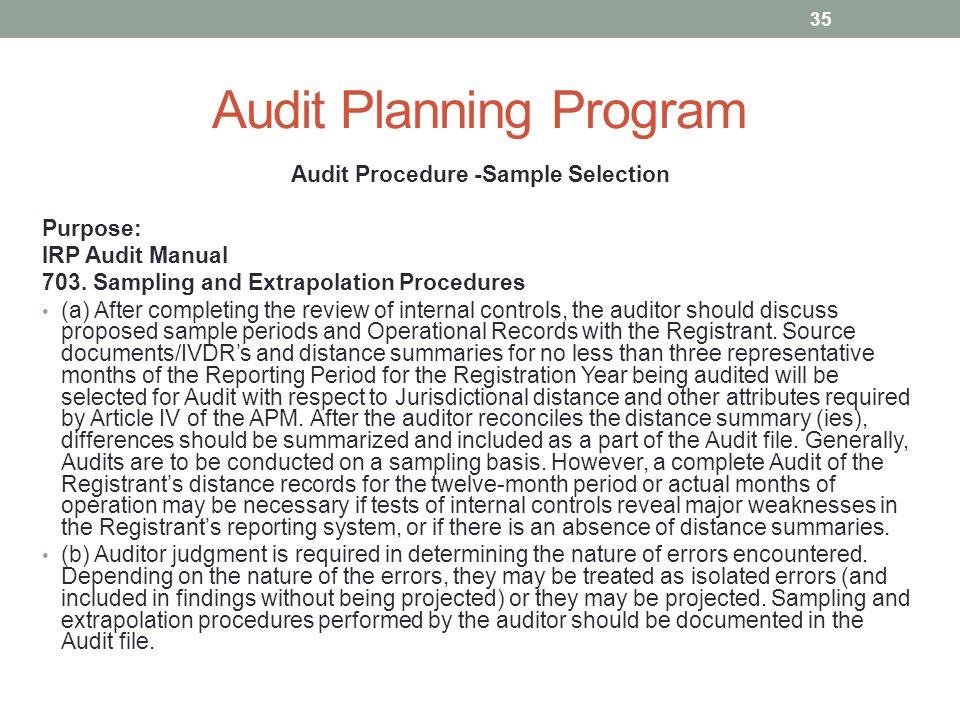 Developing a Standard Audit Program Using CCH Teammate Audit
