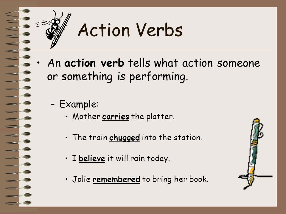 VERBS - ppt video online download - what is an action verb