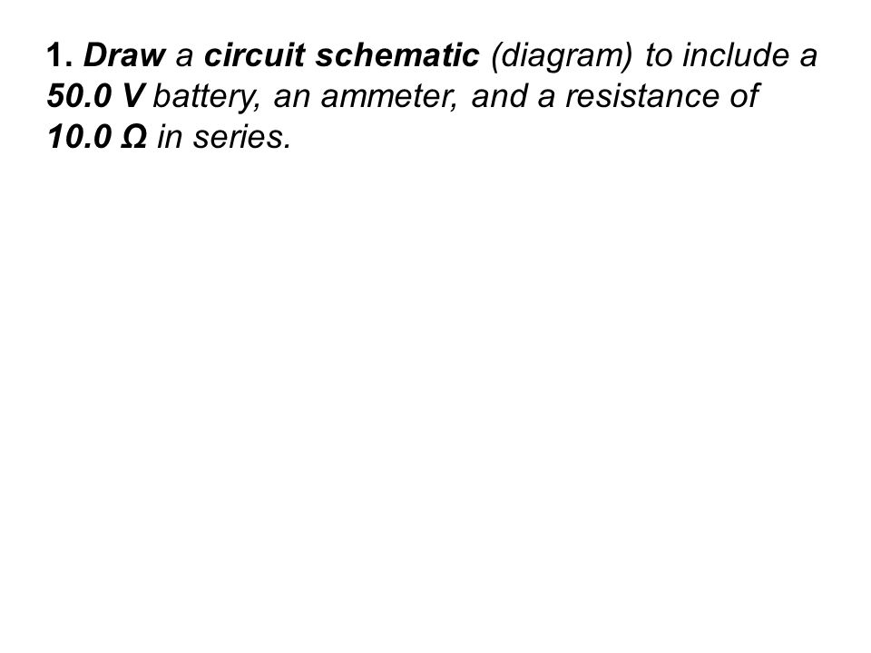 Worksheet Circuits and Ohm\u0027s Law - ppt video online download