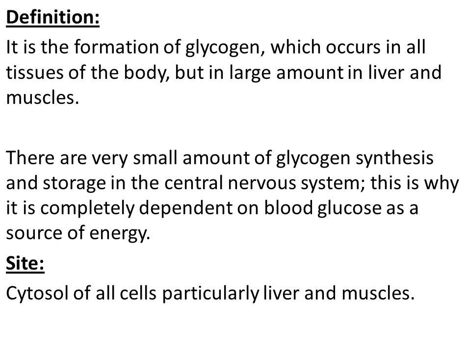 Glycogen Synthesis (or Glycogenesis) - ppt video online download