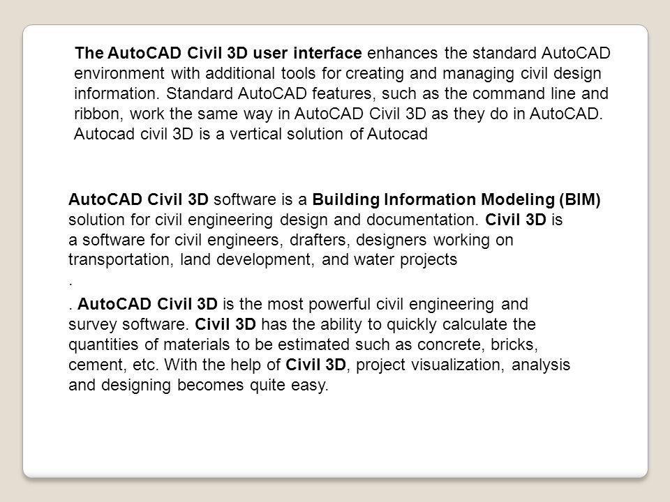 AUTOCAD CIVIL3D ppt video online download