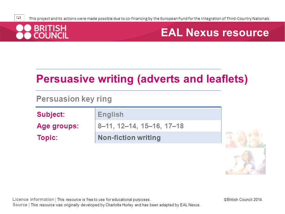 Persuasive writing (adverts and leaflets) - ppt download