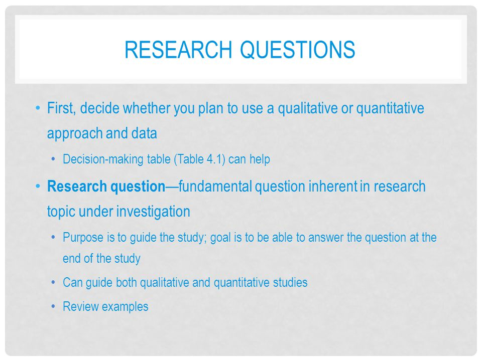 Developing a research plan - ppt video online download