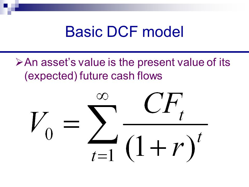 Discounted Cash Flow Valuation - ppt download