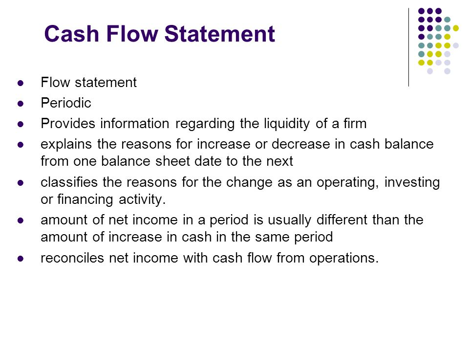 Statement of Cash Flows- First Approach - ppt video online download