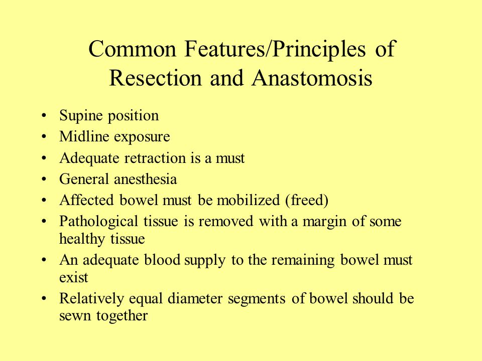 Basic Format Colon Resection and Anastomosis - ppt video online