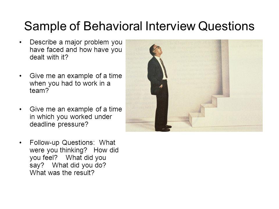 behavioral interview question - Towerdlugopisyreklamowe
