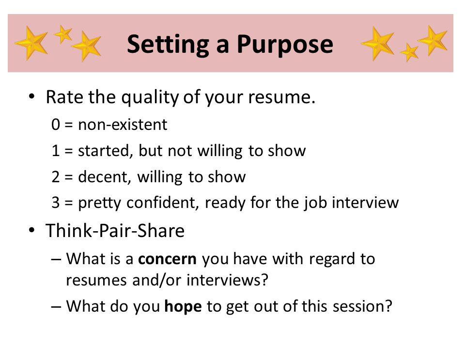 Because You Are the Best Developing Résumés and Interview Skills