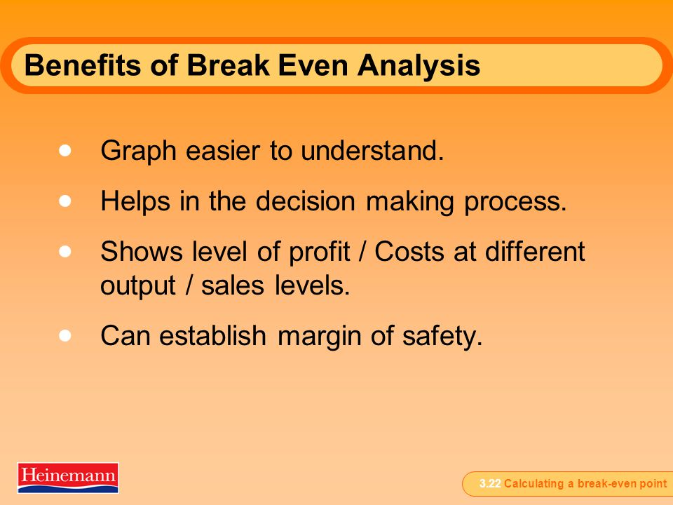 Break-Even Analysis This presentation provides an overview of the