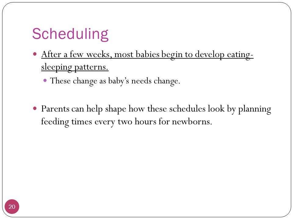 Schedules For Babies colbro - schedules for babies
