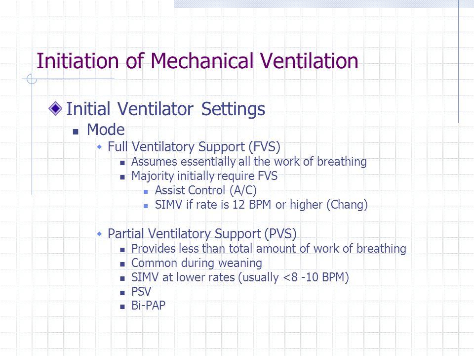 Initiation of Mechanical Ventilation - ppt video online download