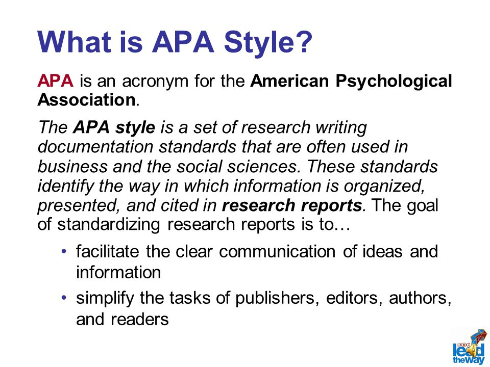 apa style paper format