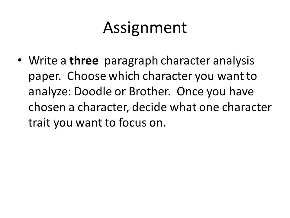 Character Analysis Essay - ppt video online download