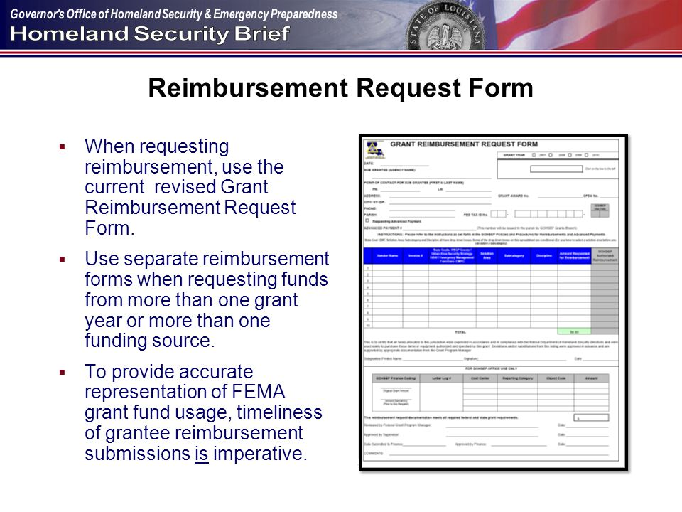 Homeland Security Section - ppt download - fema application form