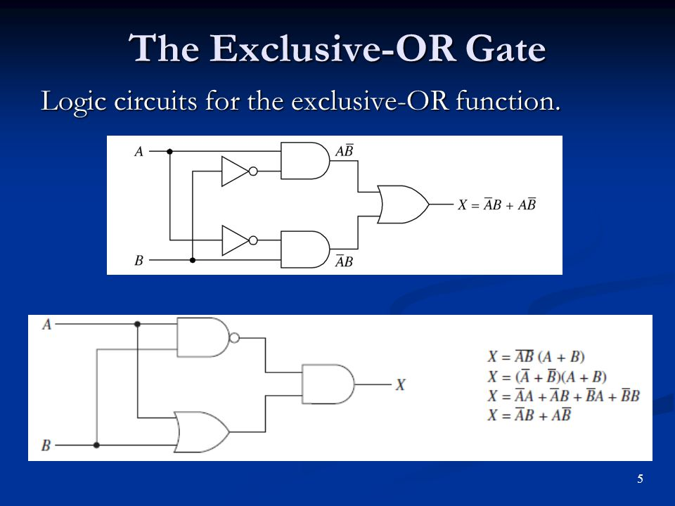 Exclusive-OR and Exclusive-NOR Gates - ppt video online download