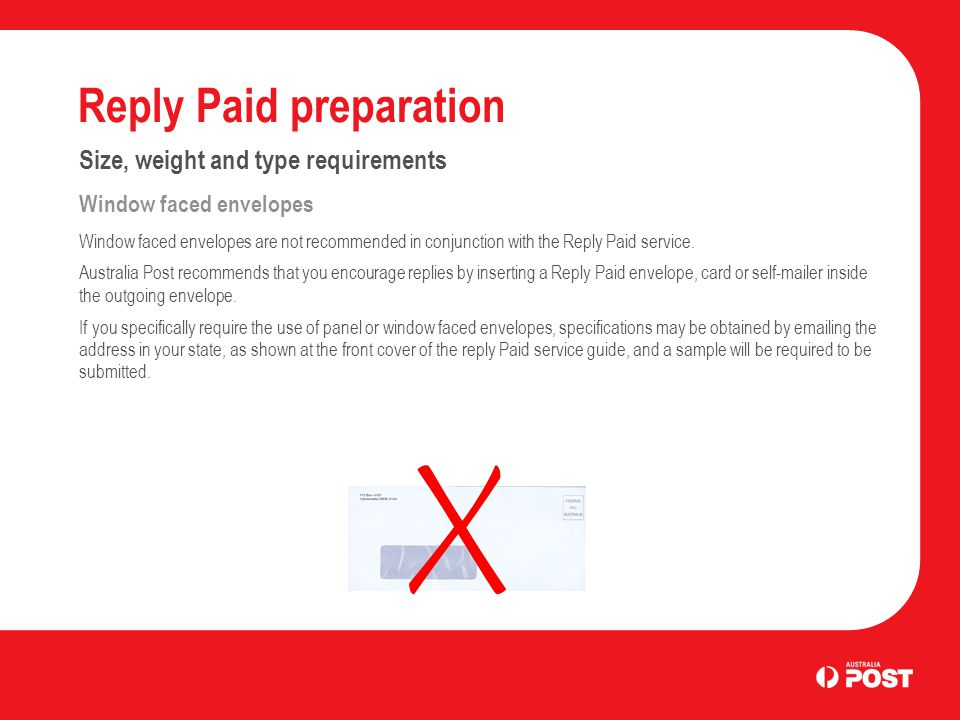 Reply Paid Preparation - ppt download