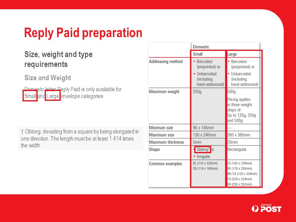 Reply Paid Preparation - ppt download - response envelope sizes