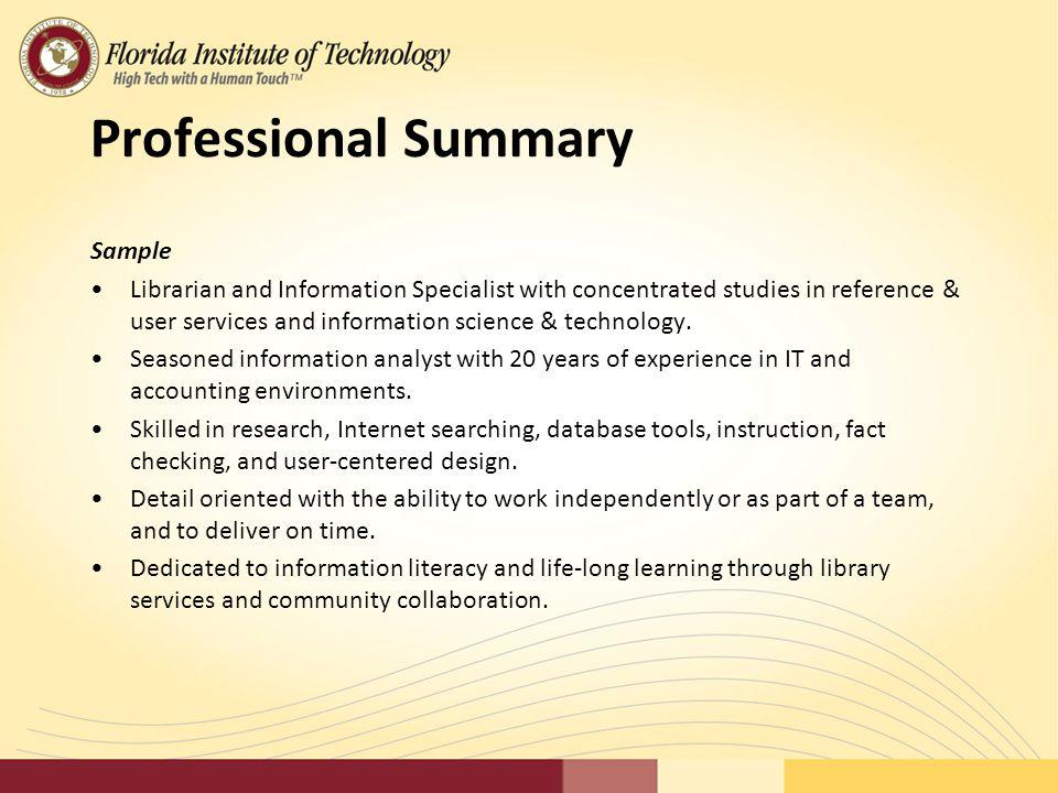 professional summary sample - Pinarkubkireklamowe