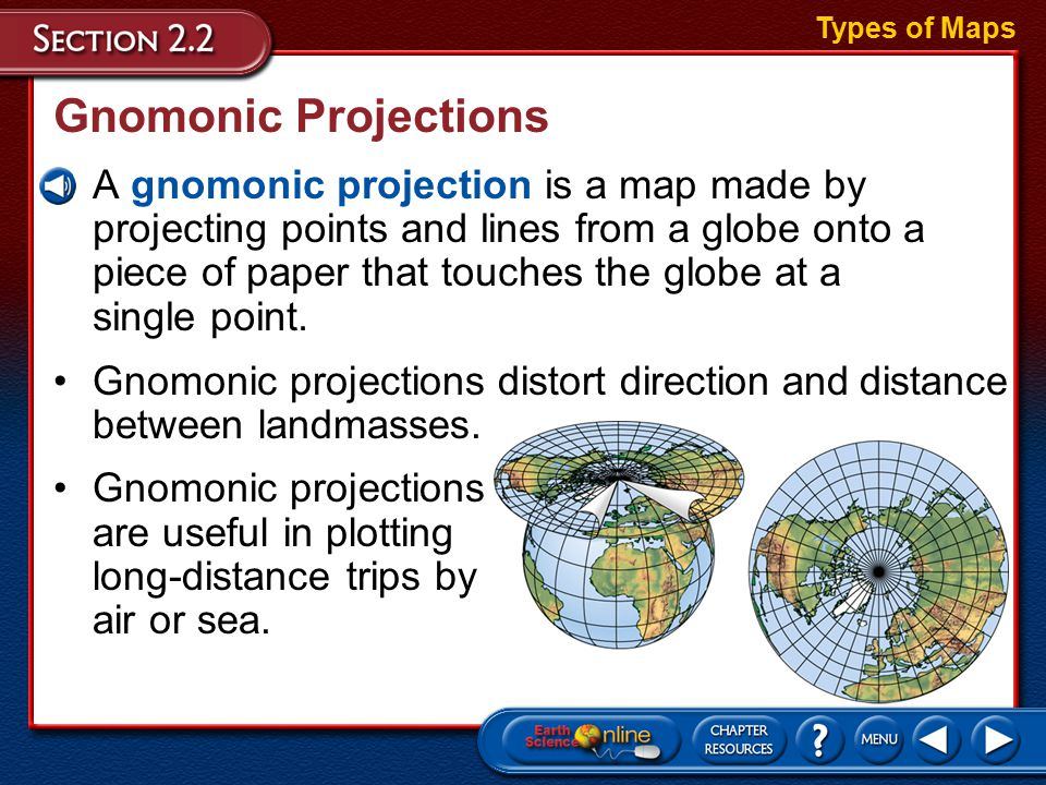 Objectives Vocabulary Compare and contrast different map projections