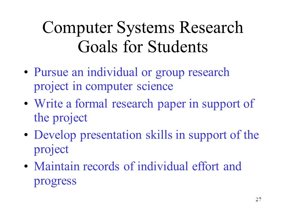 Research papers in computer science projects Term paper Writing
