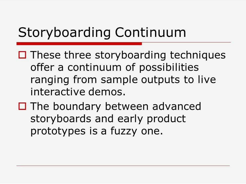 Prototyping and Storoyboards - ppt video online download