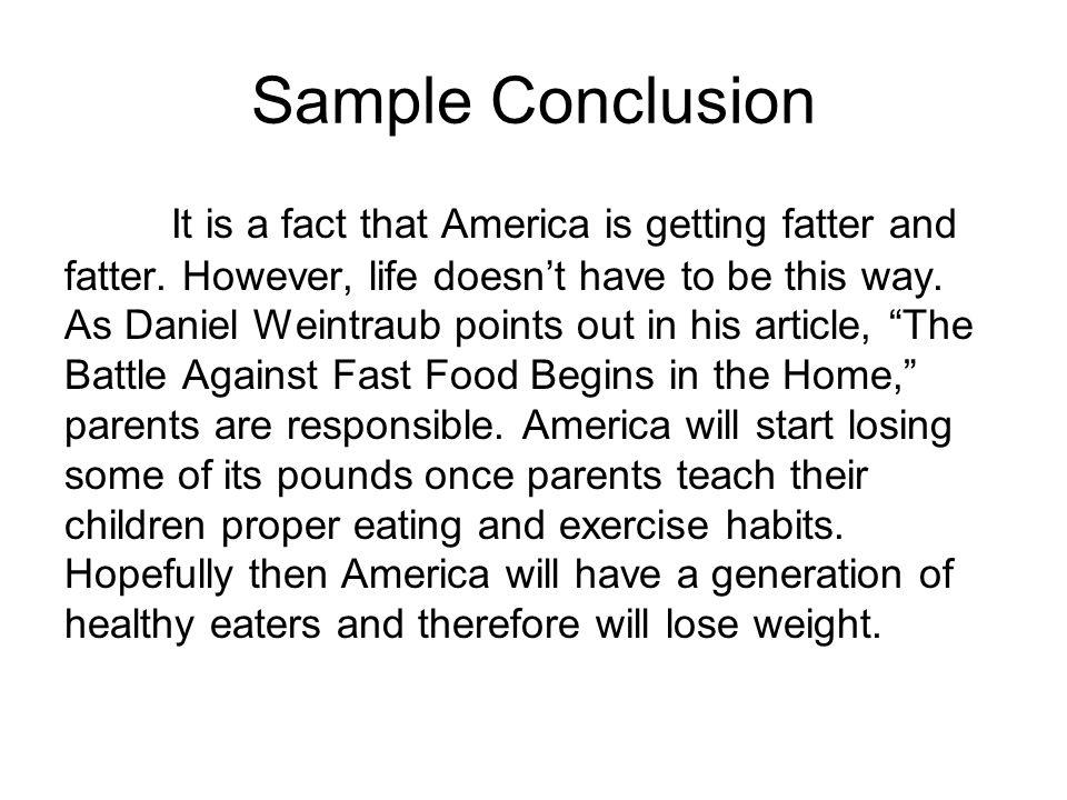 Fast Food Essay - ppt video online download