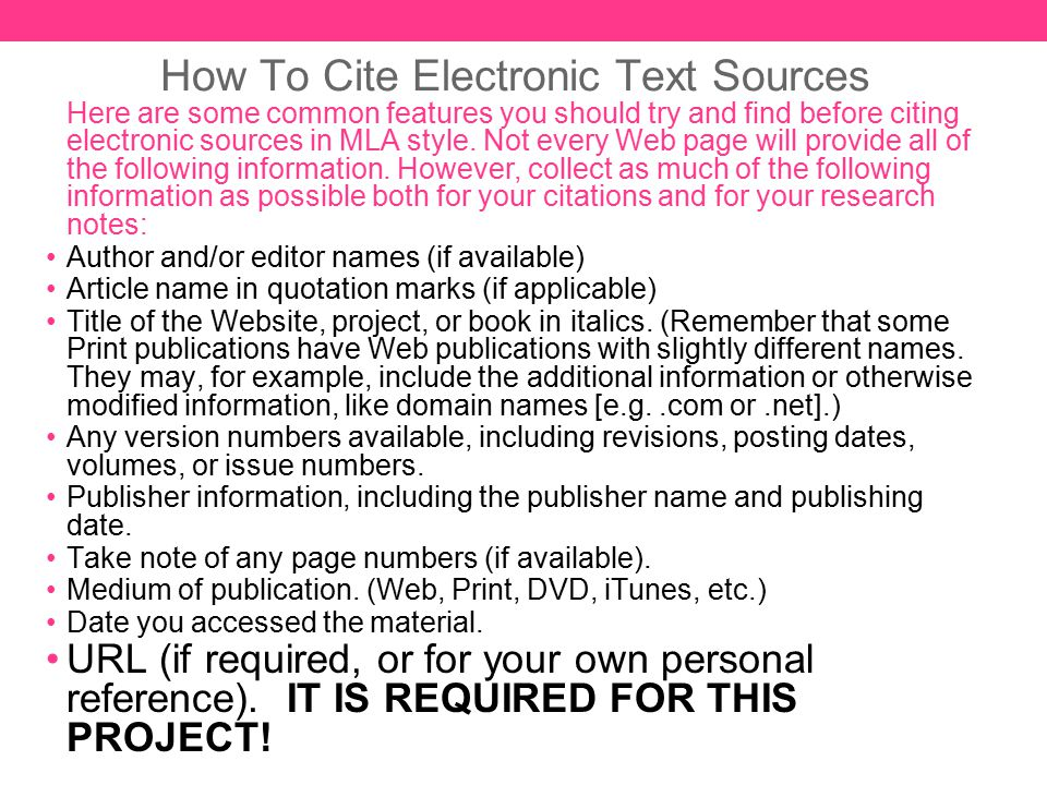MLA FORMAT Resources, Sample Page, and Citation Examples - ppt download