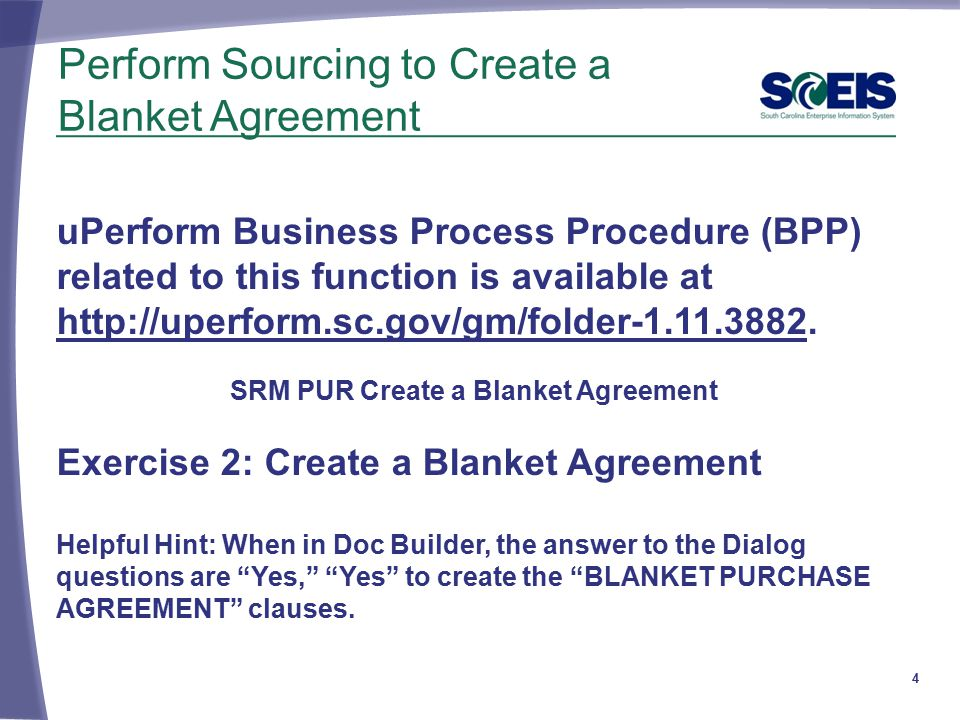 Lesson 5 Create A Blanket Agreement and A Blanket Purchase Order