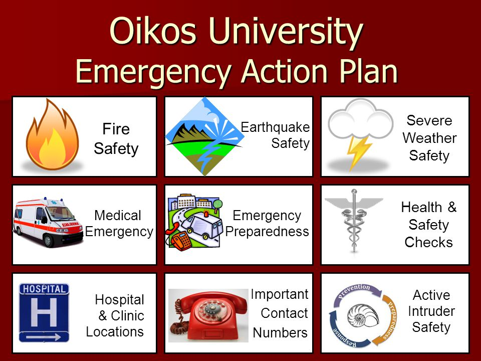 Oikos University Emergency Action Plan - ppt video online download