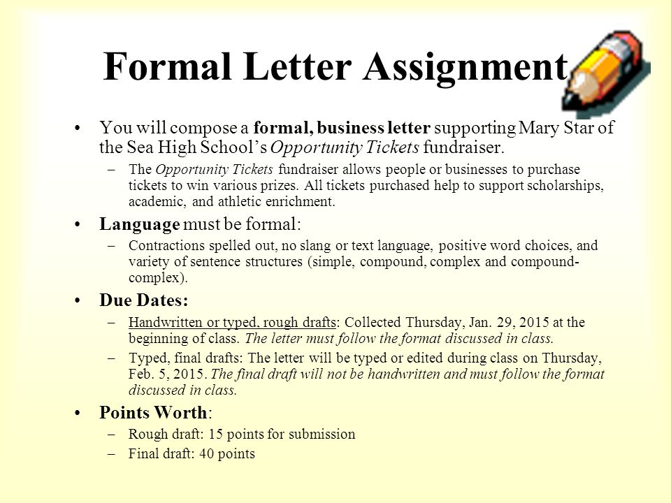How to format a BUSINESS LETTER - ppt video online download - assignment letter