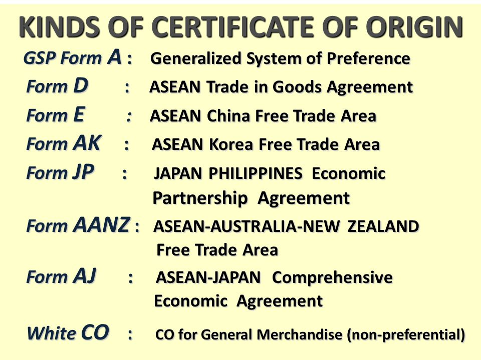 Doing Business in Free Trade Areas - ppt video online download - Certificate Of Origin Forms
