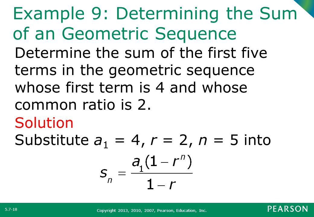 Section 57 Arithmetic and Geometric Sequences - ppt video online - geometric sequence example
