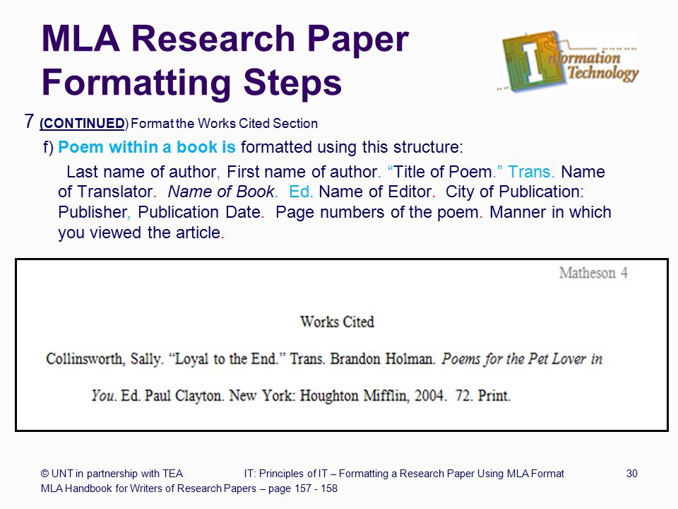 Formatting a Research Paper - ppt download