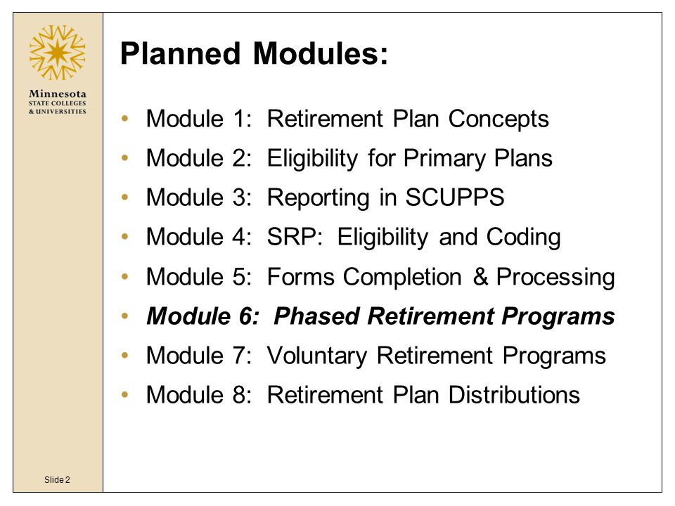 MnSCU Retirement Plans - ppt video online download