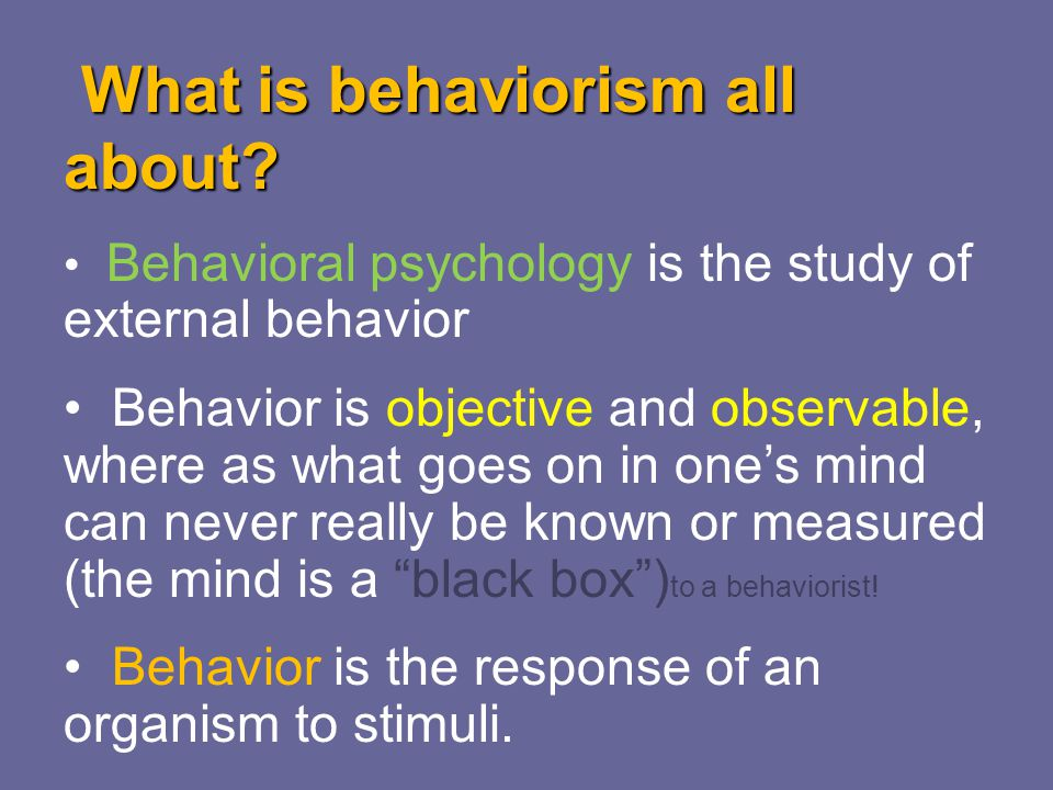 Behaviorism and the Teaching of Mathematics - ppt video online download - behaviorism