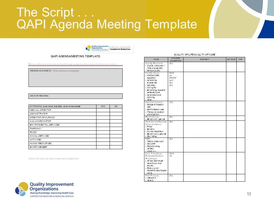 How to Direct and Produce a \u201cBLOCKBUSTER\u201d QAPI Meeting - ppt video