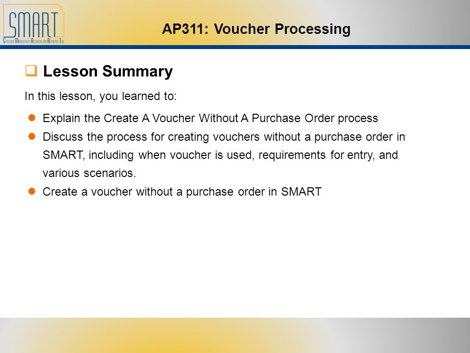Welcome to AP311 Voucher Processing - ppt download