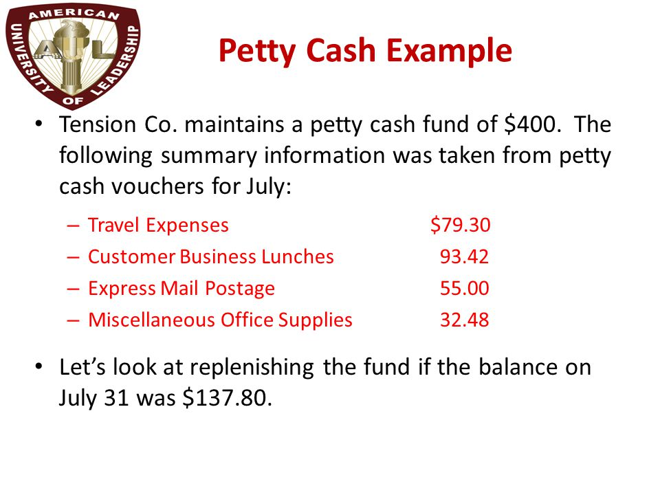Chapter 2 Reporting and Analyzing Cash and Internal Controls - ppt