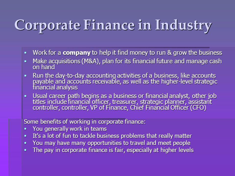 Finance Career Workshop - ppt video online download