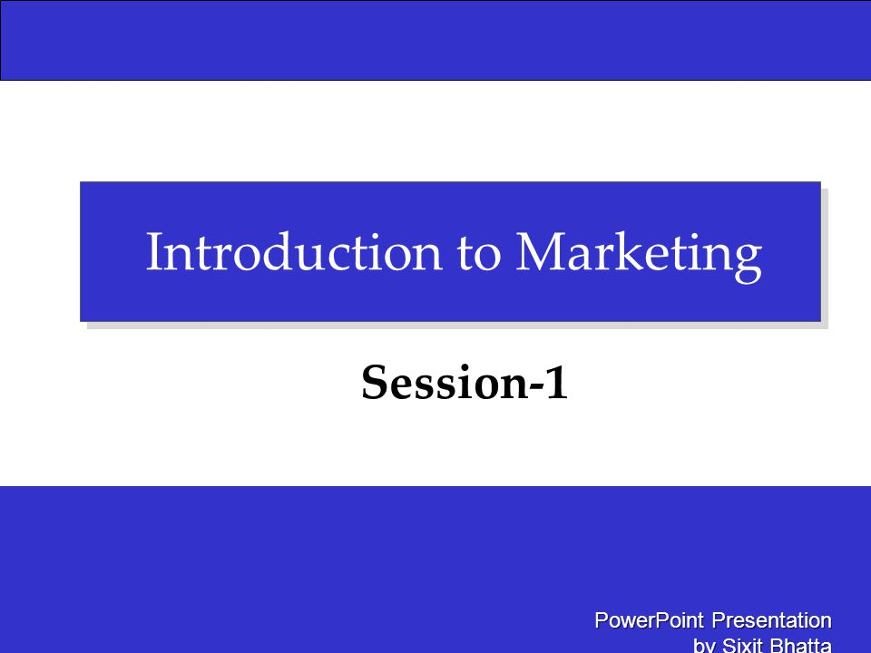 Introduction to Marketing - ppt video online download