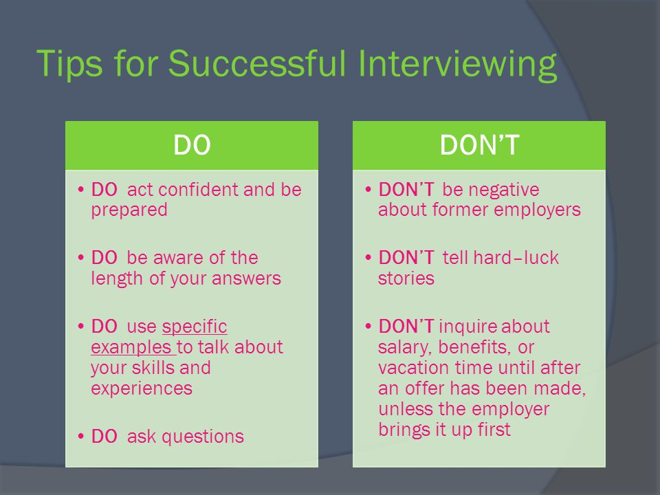 Interviewing for success - ppt video online download