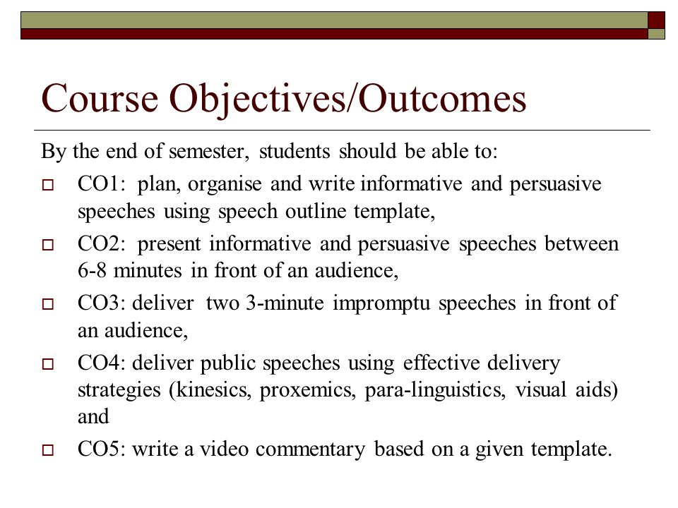 Impromptu Speech Template How to Write a Speech Outline with - impromptu speech template