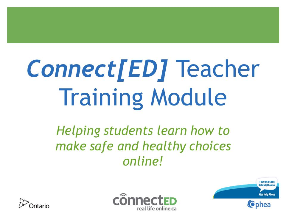 ConnectED Teacher Training Module - ppt download