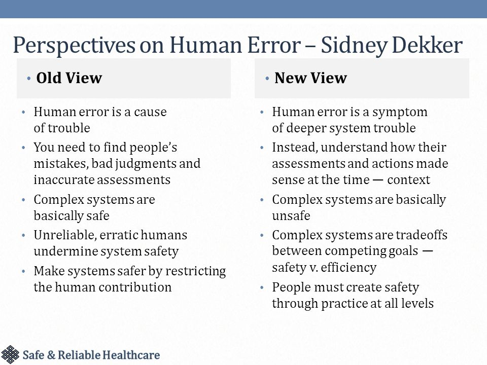 Building A Culture Of Safety High Reliability And