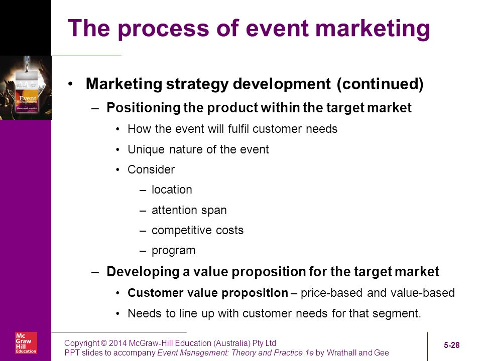 Chapter Five Event Marketing - ppt video online download