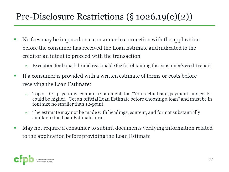 TILA-RESPA Integrated Disclosures - ppt video online download - Loan Estimate Form