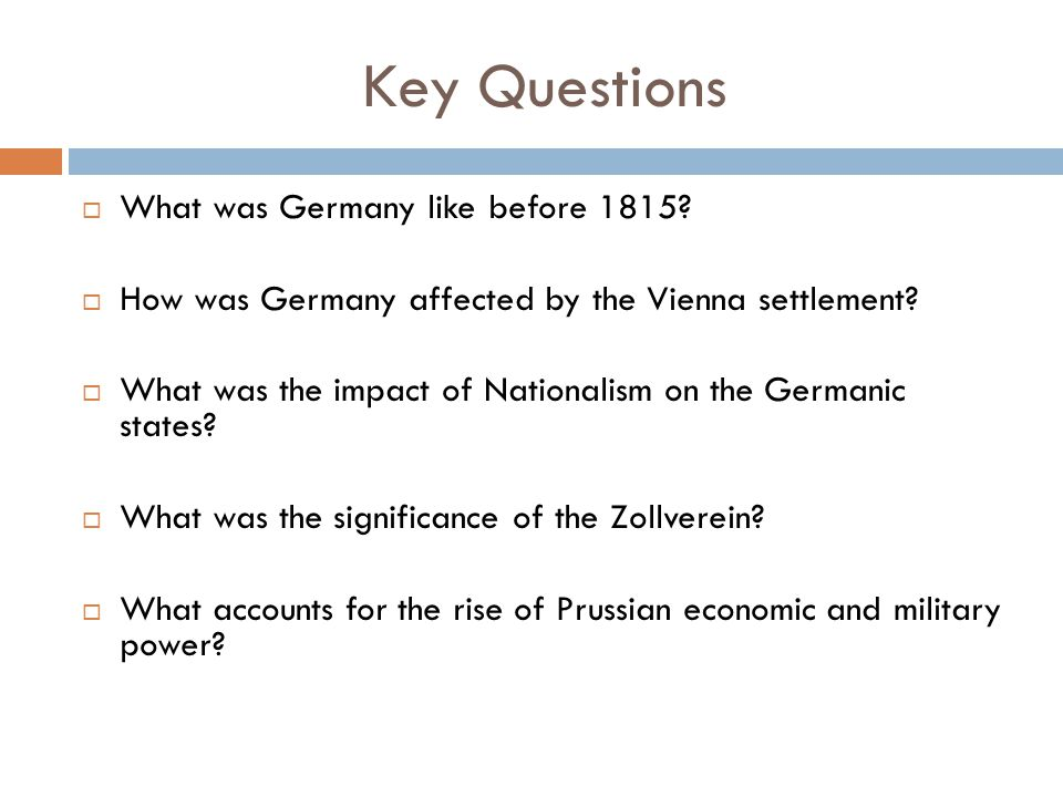 The Unification of Germany - ppt video online download