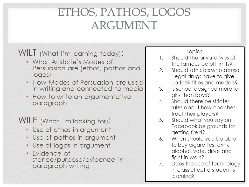 Ethos, Pathos and Logos Tuesday, November 18th, ppt video online