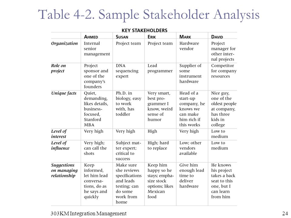 Stakeholder Analysis Template Excel Lovely Project Management