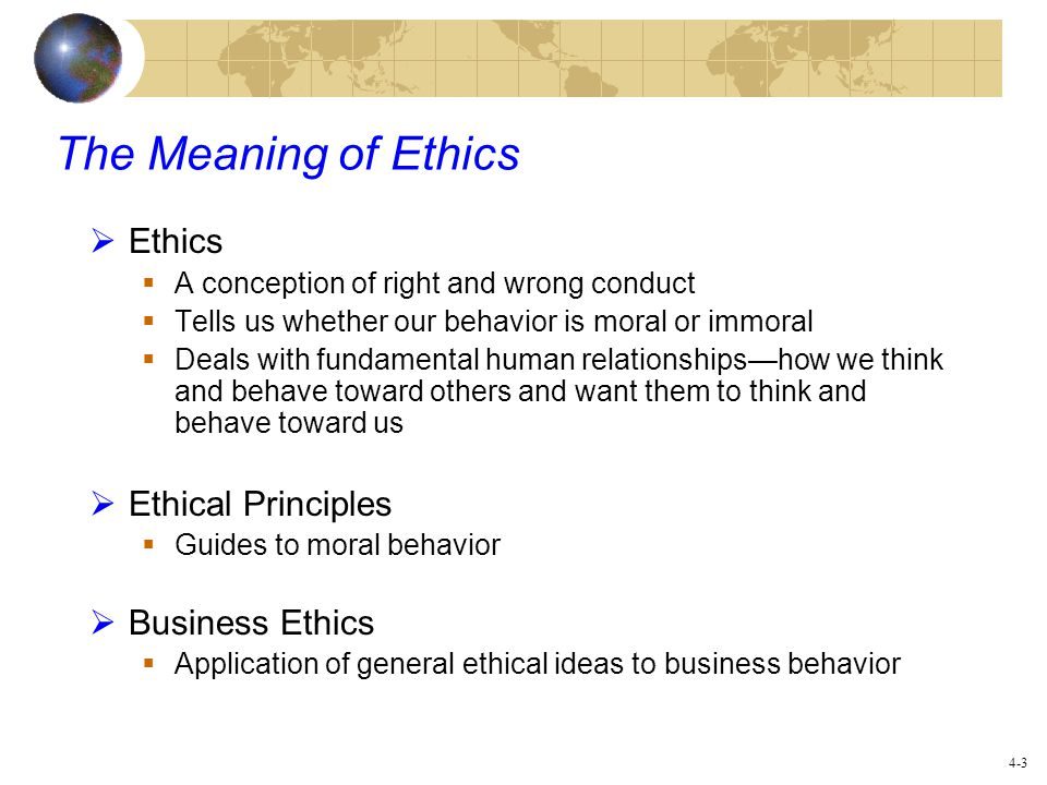 The meaning of ethics Coursework Academic Writing Service